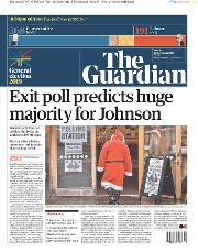 The Guardian (UK) Newspaper Front Page for 13 December 2019