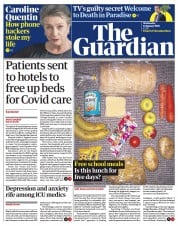The Guardian front page for 13 January 2021