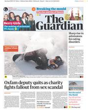 The Guardian (UK) Newspaper Front Page for 13 February 2018