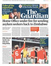 The Guardian () Newspaper Front Page for 13 February 2019