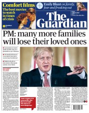 The Guardian (UK) Newspaper Front Page for 13 March 2020