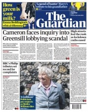 The Guardian front page for 13 April 2021