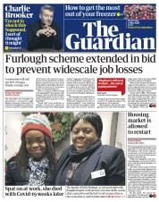 The Guardian front page for 13 May 2020