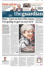 The Guardian (UK) Newspaper Front Page for 13 June 2017
