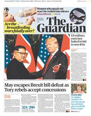 The Guardian (UK) Newspaper Front Page for 13 June 2018
