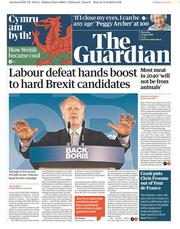 The Guardian (UK) Newspaper Front Page for 13 June 2019
