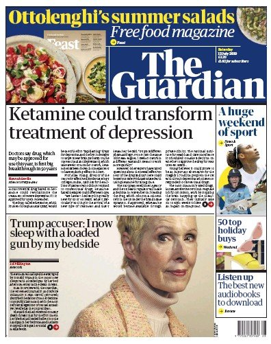 The Guardian Newspaper Front Page (UK) for 13 July 2019