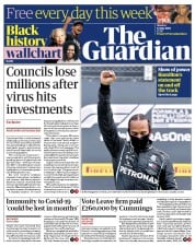 The Guardian front page for 13 July 2020