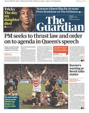The Guardian () Newspaper Front Page for 14 October 2019