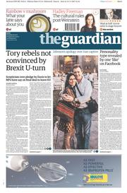 The Guardian (UK) Newspaper Front Page for 14 November 2017