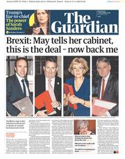 The Guardian (UK) Newspaper Front Page for 14 November 2018