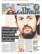 The Guardian (UK) Newspaper Front Page for 14 February 2018