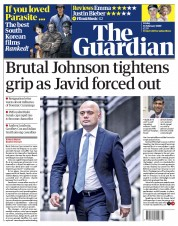 The Guardian (UK) Newspaper Front Page for 14 February 2020