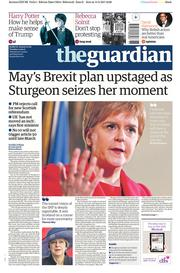 The Guardian (UK) Newspaper Front Page for 14 March 2017