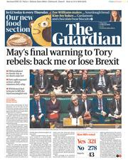 The Guardian (UK) Newspaper Front Page for 14 March 2019