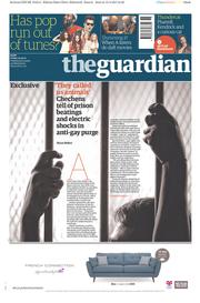 The Guardian (UK) Newspaper Front Page for 14 April 2017