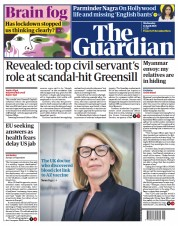 The Guardian front page for 14 April 2021