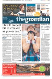 The Guardian (UK) Newspaper Front Page for 14 July 2017