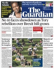 The Guardian front page for 14 September 2020