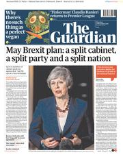 The Guardian (UK) Newspaper Front Page for 15 November 2018
