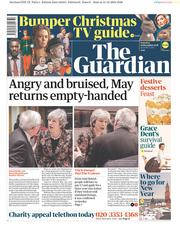 The Guardian () Newspaper Front Page for 15 December 2018