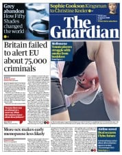 The Guardian (UK) Newspaper Front Page for 15 January 2020