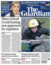 The Guardian front page for 15 January 2021