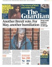 The Guardian () Newspaper Front Page for 15 February 2019