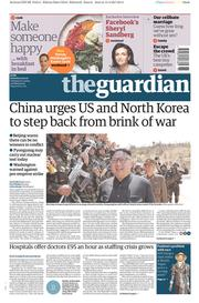 The Guardian (UK) Newspaper Front Page for 15 April 2017