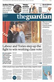 The Guardian (UK) Newspaper Front Page for 15 May 2017