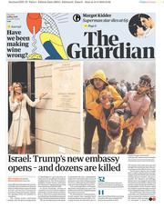 The Guardian (UK) Newspaper Front Page for 15 May 2018