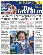 The Guardian front page for 15 May 2020