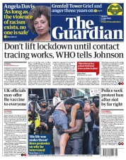 The Guardian (UK) Newspaper Front Page for 15 June 2020