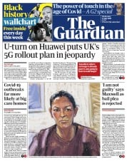 The Guardian front page for 15 July 2020