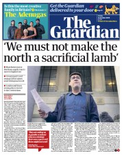 The Guardian front page for 16 October 2020