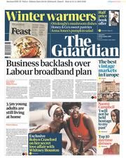 The Guardian (UK) Newspaper Front Page for 16 November 2019