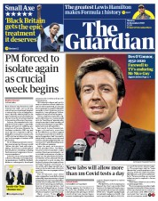 The Guardian front page for 16 November 2020