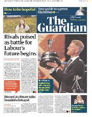 The Guardian () Newspaper Front Page for 16 December 2019