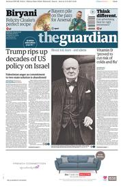 The Guardian (UK) Newspaper Front Page for 16 February 2017