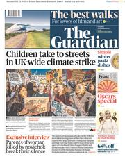 The Guardian (UK) Newspaper Front Page for 16 February 2019