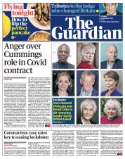 The Guardian front page for 16 February 2021