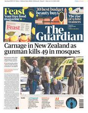 The Guardian () Newspaper Front Page for 16 March 2019