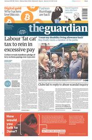 The Guardian (UK) Newspaper Front Page for 16 May 2017