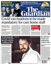 The Guardian () Newspaper Front Page for 16 June 2021