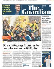 The Guardian (UK) Newspaper Front Page for 16 July 2018