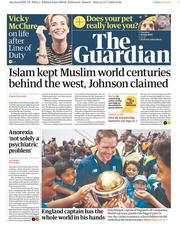 The Guardian (UK) Newspaper Front Page for 16 July 2019