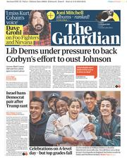 The Guardian (UK) Newspaper Front Page for 16 August 2019