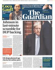The Guardian (UK) Newspaper Front Page for 17 October 2019