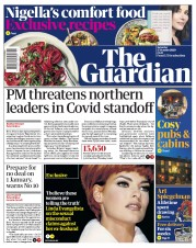 The Guardian front page for 17 October 2020