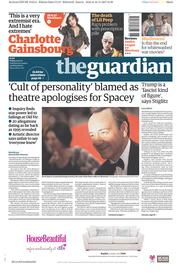 The Guardian (UK) Newspaper Front Page for 17 November 2017